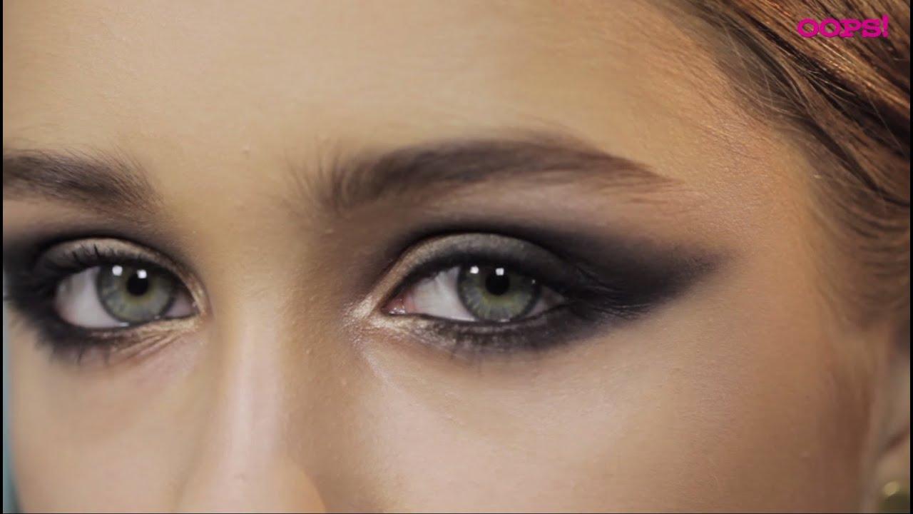 Макияж кошачий глаз с нависшими веками