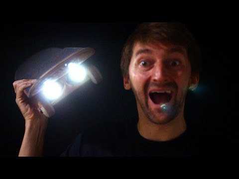 HEADLIGHTS FOR YOUR SKATEBOARD! | SKATE CIRCUS EP 1