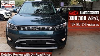 Mahindra XUV 300 Top Model W8O Detailed Review with On Road Price | Xuv300 W8 Optional