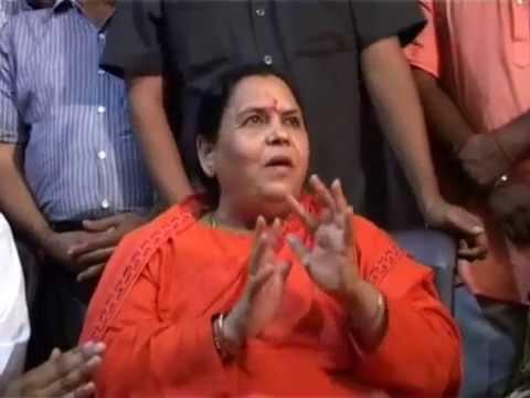 Uma Bharti Talks about River Cleanses Program of Ganga nad Other Rivers of India uma bharti