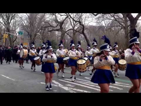 Mother Cabrini High School Drum Corps last St.  Patrick's Day parade on Fifth Avenue -- 3/17/2014