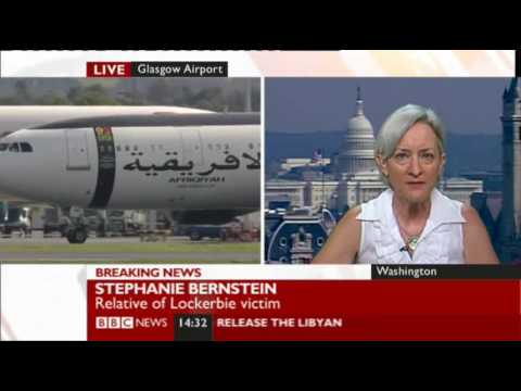 Lockerbie bomber released. Shame on MacAskill says widowed Stephanie Bernstein.