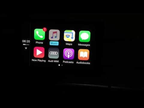 Apple CarPlay Demo, Audi