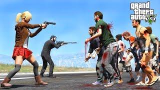 HUGE ZOMBIE APOCALYPSE DESTROYS LOS SANTOS - GTA 5 END OF LOS SANTOS MOD