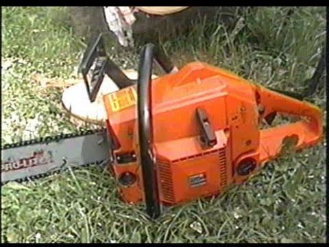 Husqvarna 254 Chainsaw Log Test