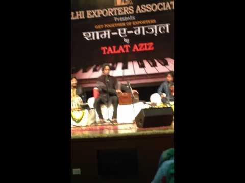 Talat Aziz : Zindagi Jab Bhi Teri Bazm Mein live in Delhi