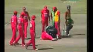Nasir hossain Breaks Teeth of bowler