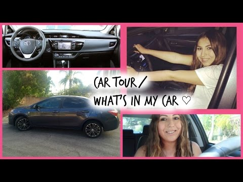 Car Tour // What's in my Car ♡ Toyota Corolla 2015