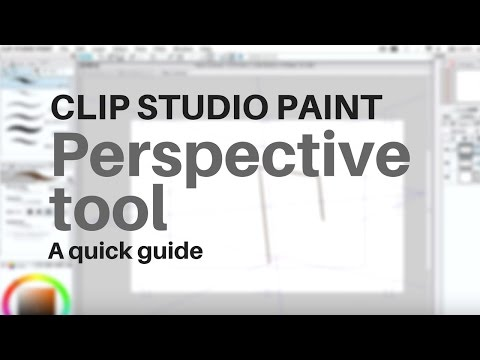 Clip Studio Paint perspective tool - tutorial (manga studio 5)