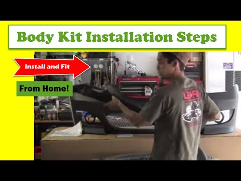 Body Kit Installation Steps - How To Install & Fit Your Body Kit From Home!