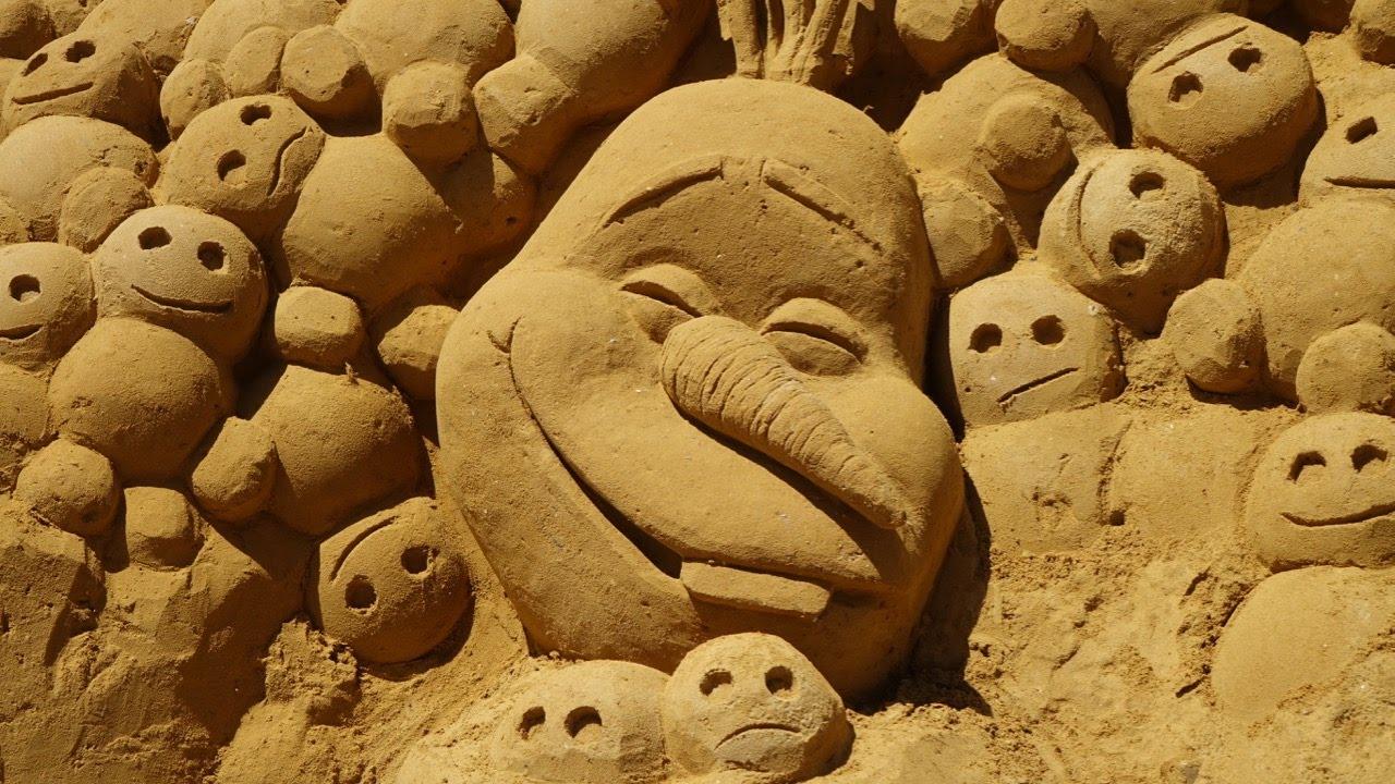 Veamos un mundo Disney hecho de arena...