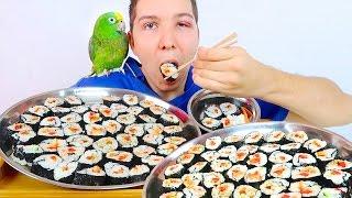 Sushi Challenge Eating Show • MUKBANG
