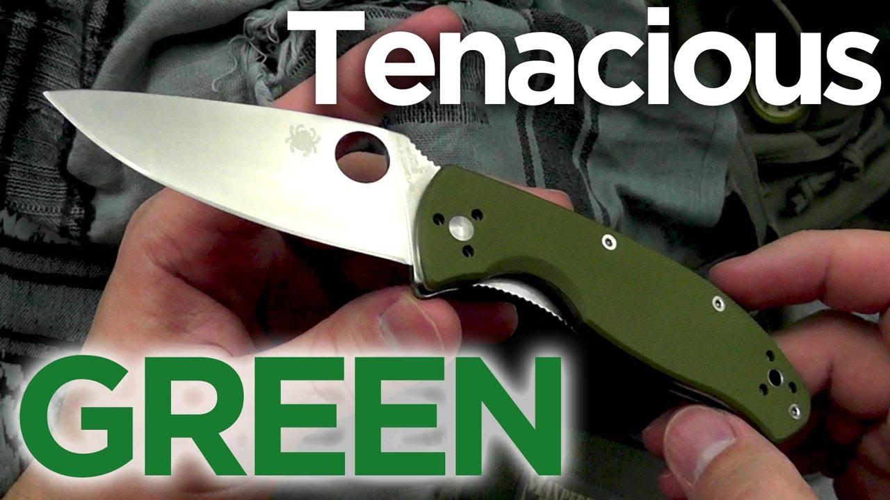 Green Spyderco Green With Tenacity Spyderco