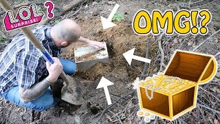 WE FOUND BURIED TREASURE! What's Inside.. GOLD!? JEWELS!? L.O.L. SURPRISE DOLLS!?