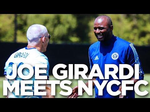 Yankees Manager Joe Girardi Meets NYCFC   INSIDE TRAINING