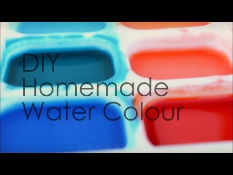 DIY: Homemade Watercolour Paints