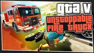 GTA 5 Online - Unstoppable Fire Truck (Custom Games)