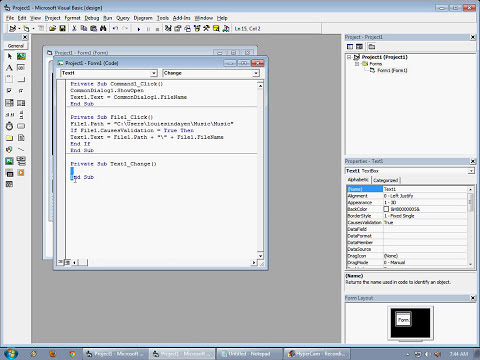 Visual Basic 6.0 Windows media player easy play and browse