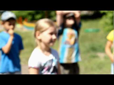 Эстафета на улице. Детский сад. 2012