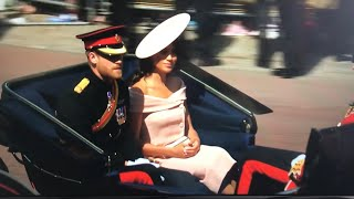 British Royal Family Inc Meghan ARRIVAL ALL MOMENTS -Trooping The Colour 2018