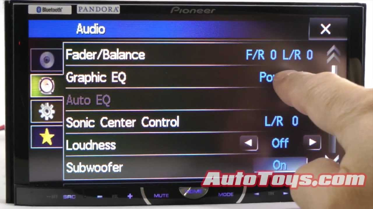 Auu >> Pioneer AVHP4400BH Double Din Radio Demo - YouTube