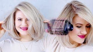 THE BEST DRUGSTORE HAIR DRYER: Revlon Oval One-Step Hair Dryer & Volumizing Styler