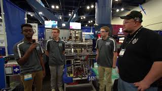 Behind the Bumpers 1619 Up a creek robotics Houston 2018 Championship
