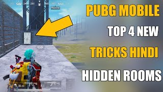 PUBG MOBILE NEW 4 TIPS AND TRICKS || NEW 4 HIDDEN ROOMS PUBG MOBILE