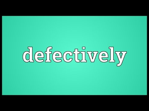 Header of defectively