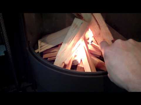 Morso S10-40 wood burning stove lighting and review