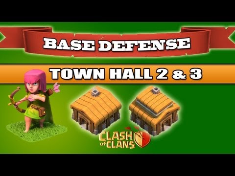 Clash of Clans - BEST Defense - Town Hall 2 and 3