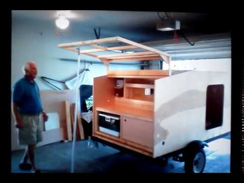 Teardrop camper. home built.