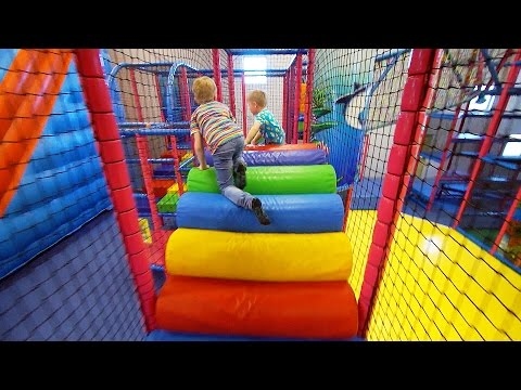 Indoor Playground Fun for Kids at Stella's Lekland (like Busfabriken)