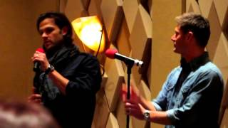 Supernatural, Lunch Panel, 2013 with Jensen and Jared Full length!