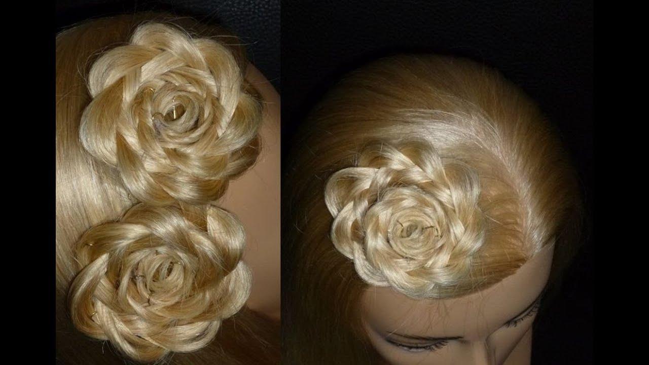 Как сделать цветы из волос своими руками