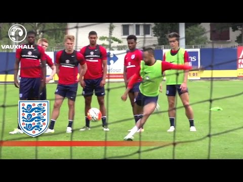 Behind the Goal - England U21 Warm Up Ahead of Guinea (2016 Toulon Tournament) | Inside Training