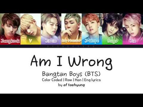 BTS I'm I Wrong