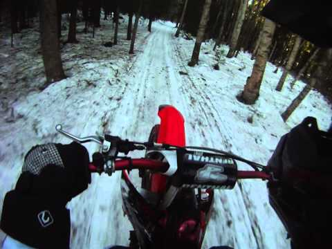 Honda CRF 450 Snow Trail Riding