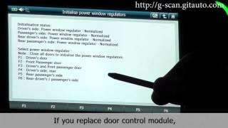 How to initialise power window regulators on BMW 2015 X3