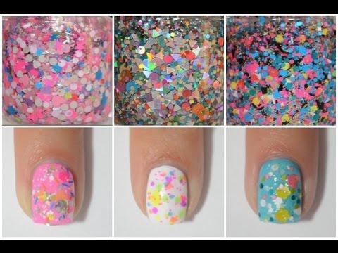 Multi-color Glitter Nail