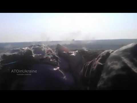 Русские фашисты ведут обстрел Украинского села  Желанное 03 06 15