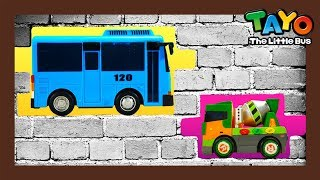 Tayo was pinned under the brick wall! l Tayo Heavy Vehicles Squad S2 l Tayo the little bus
