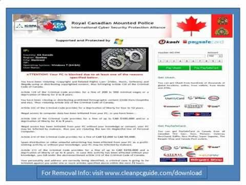 RCMP Virus (Ukash Scam) Removal Guide For Easy RCMP Virus (Ukash Scam) Removal