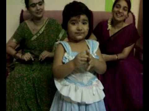 Sanvi Rhyme God Bless Mummy ,chitti Chilakamma, Chikubuku video