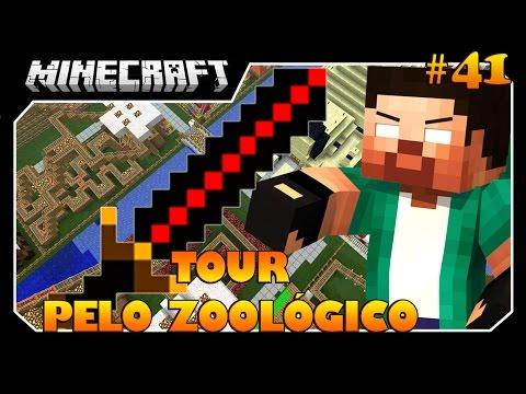 Minecraft A SÉRIE #41 TOUR PELO ZOOLÓGICO E BIG BERTHA!! ÉPICO!