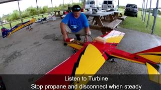 Starting an RC Turbine Jet