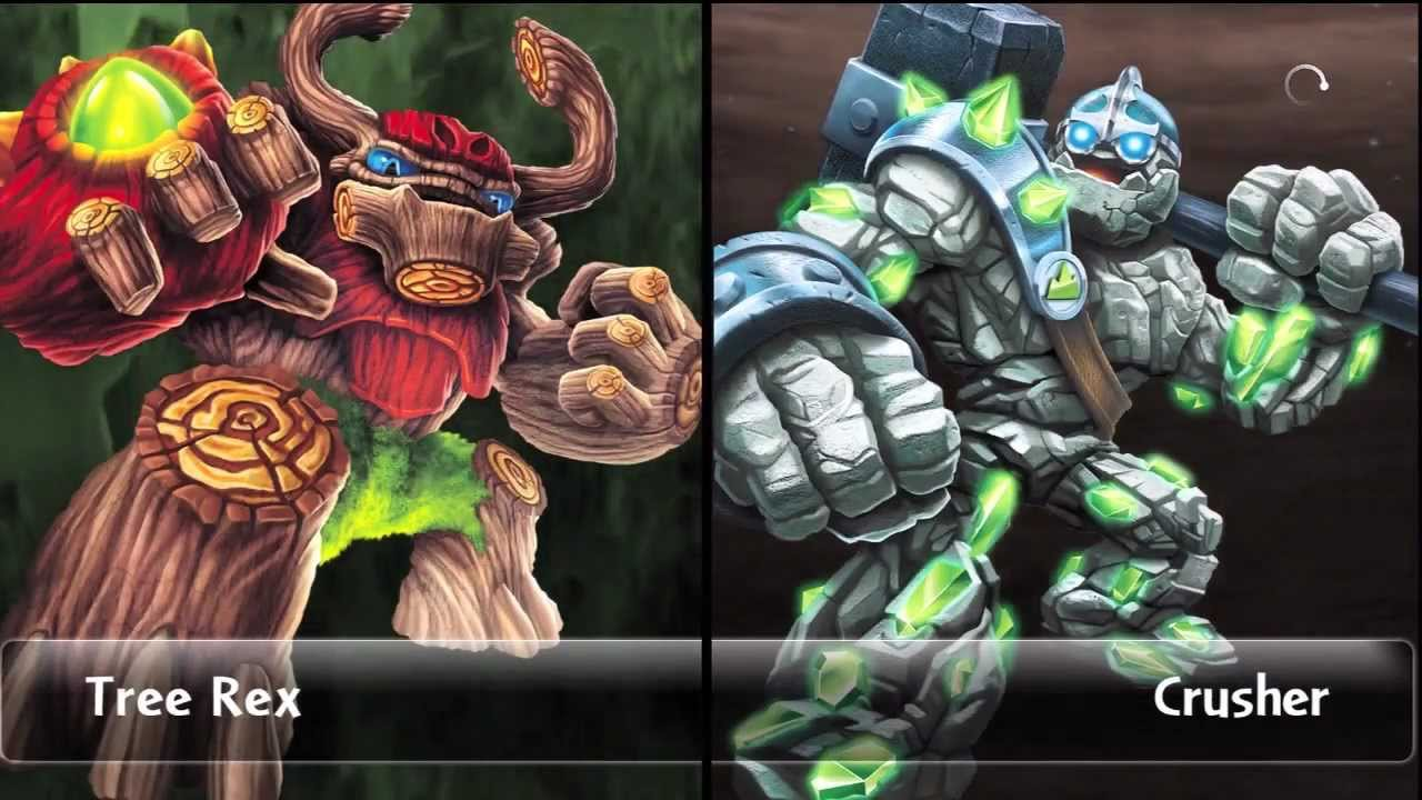 crusher 3 vs tree rex 3 lets play skylander giants