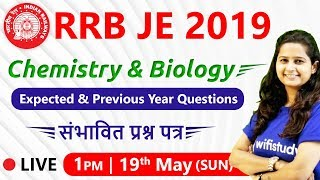 1:00 PM - RRB JE 2019 | GS by Shipra Ma'am | Previous Years & Expected Questions