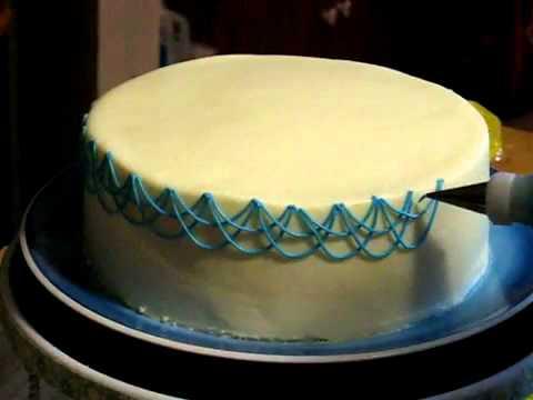 Украшение тортов видео