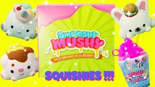 SMOOSHY MUSHY Squishies Unboxing Scented Yummy Munchies, Bakies, and Sweeties Squishies